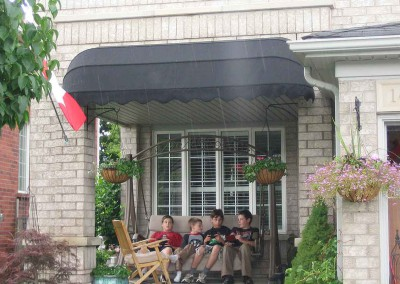 basket awning porch