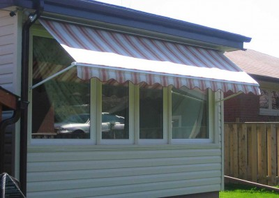 drop arm window awning