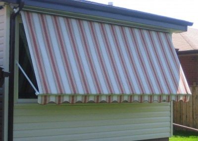 drop arm awning down